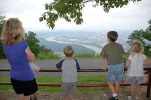 First night - at Point Park on Lookout Mountain