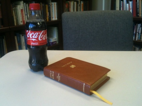 Classic Coke and Classic NIV